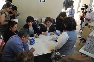 Conteo de votos en Estación Central