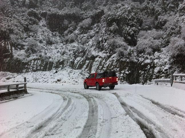 nieve cuesta moraga ruta 7