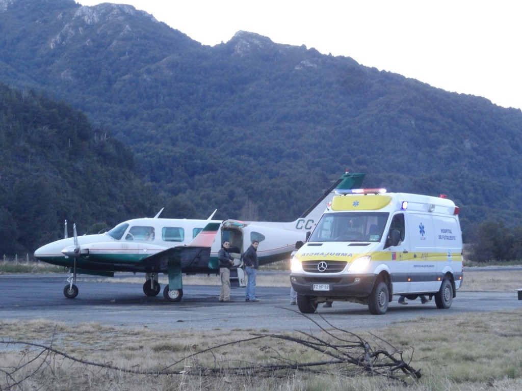 Evacuacion aeromedica Futaleufu