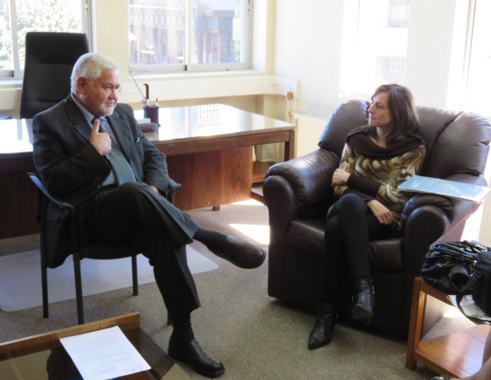 Presidente de la Corte de Apelaciones de Puerto Montt, Ministro Leopoldo Vera, se reunió con seremi de Justicia.