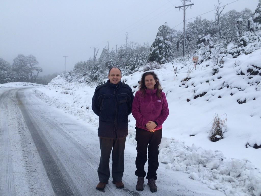 Guillermo Frene y Gabriela Piezug rumbo a Futaleufú.