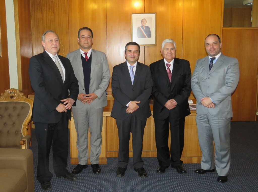 Erwin Neumann, Marcos Emilfork, Leonardo de la Prida, Leopoldo Vera y Mario Madrid.
