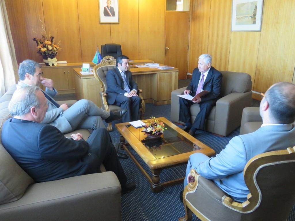 Reunión de autoridades de justicia con el intendente de la Región de Los Lagos.