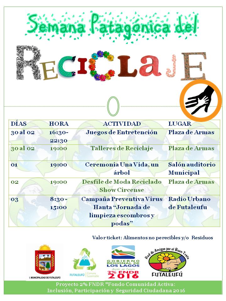 afiche semana del reciclaje