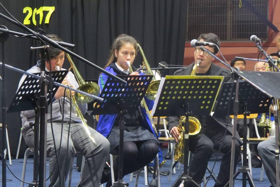 Banda Bronces Escuela de Ayacara Provincia de Palena actuando en el Tercer Encuentro Bandas Sinfonicas Achao 2017